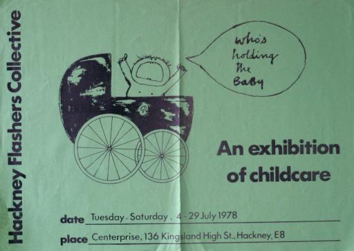 Poster advertising Who's the Holding the Baby? exhibition, 1978