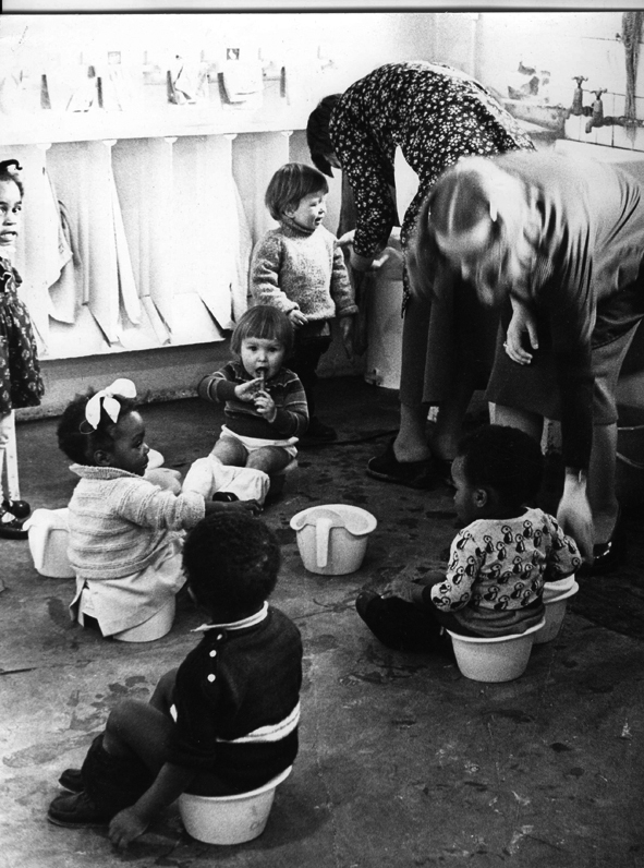Childcare image from 'Women and Work' 1975 ©Hackney Flashers