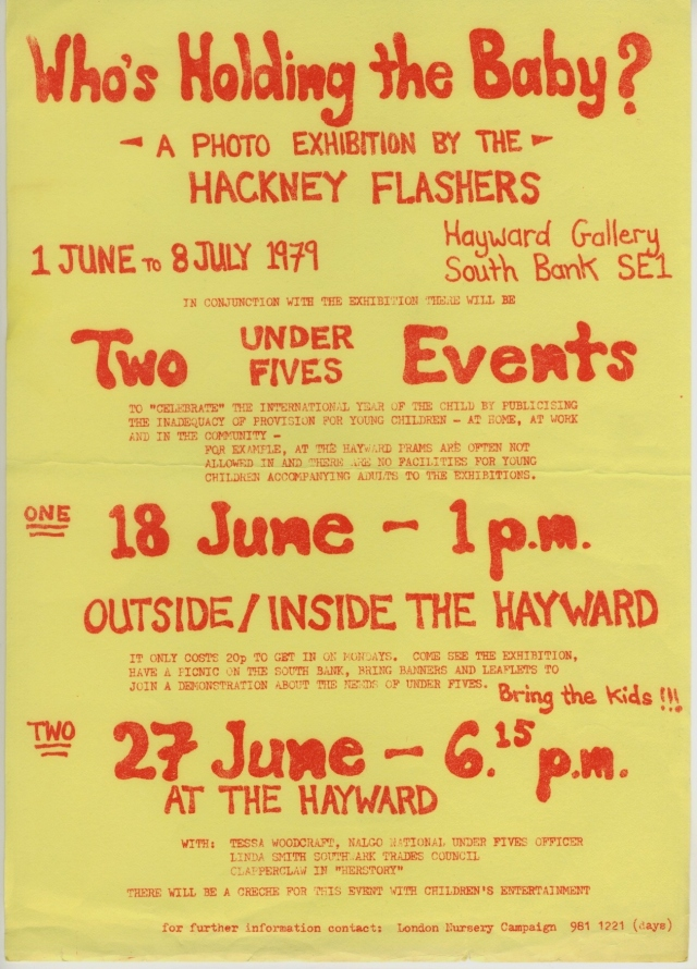Poster for Hayward Gallery events, Archive material ©Hackney Flashers