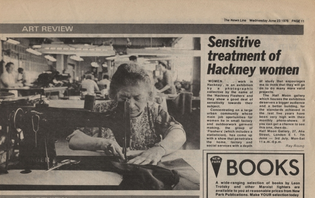 Newspaper review, Archive material ©Hackney Flashers